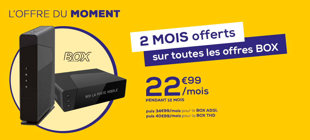 bon plan box la poste mobile